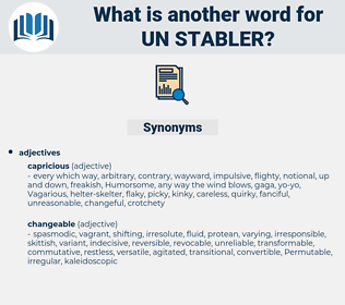 un stabler, synonym un stabler, another word for un stabler, words like un stabler, thesaurus un stabler