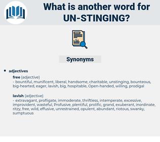 un-stinging, synonym un-stinging, another word for un-stinging, words like un-stinging, thesaurus un-stinging