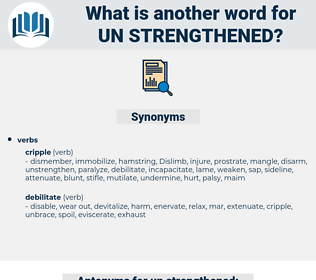 un strengthened, synonym un strengthened, another word for un strengthened, words like un strengthened, thesaurus un strengthened