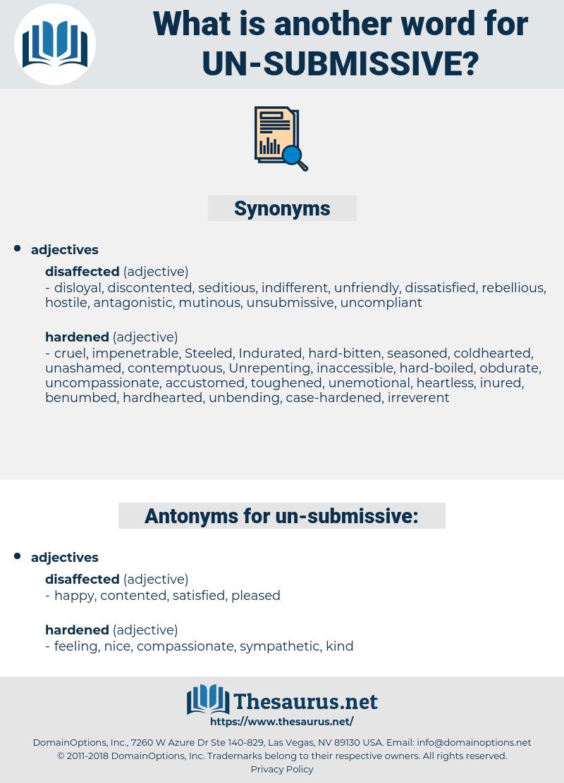 un-submissive, synonym un-submissive, another word for un-submissive, words like un-submissive, thesaurus un-submissive