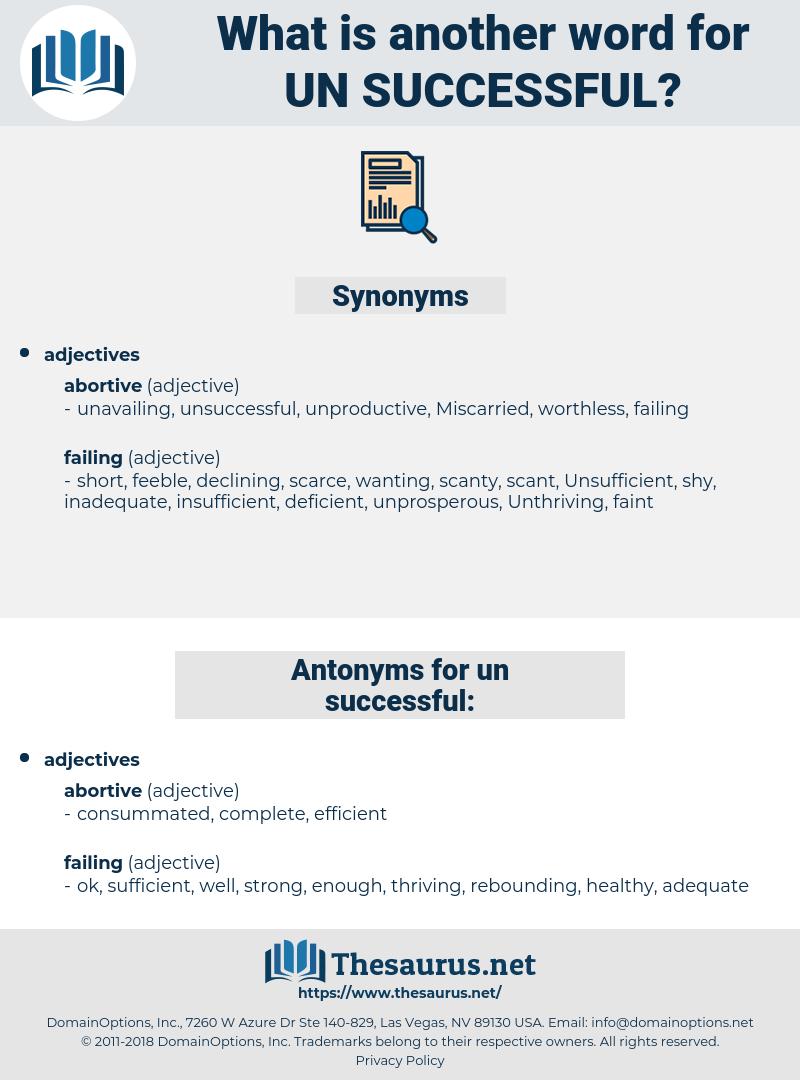un-successful, synonym un-successful, another word for un-successful, words like un-successful, thesaurus un-successful