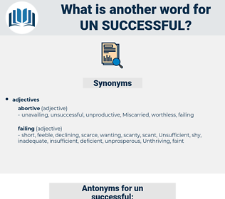 un-successful, synonym un-successful, another word for un-successful, words like un-successful, thesaurus un-successful