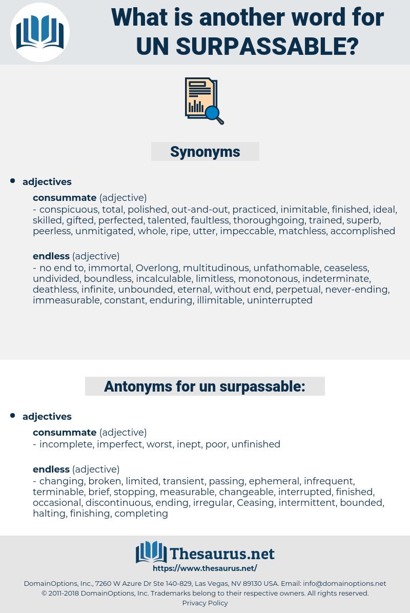 un surpassable, synonym un surpassable, another word for un surpassable, words like un surpassable, thesaurus un surpassable