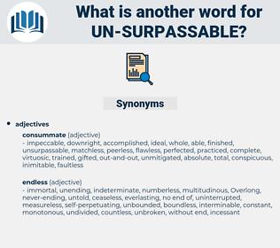 un-surpassable, synonym un-surpassable, another word for un-surpassable, words like un-surpassable, thesaurus un-surpassable