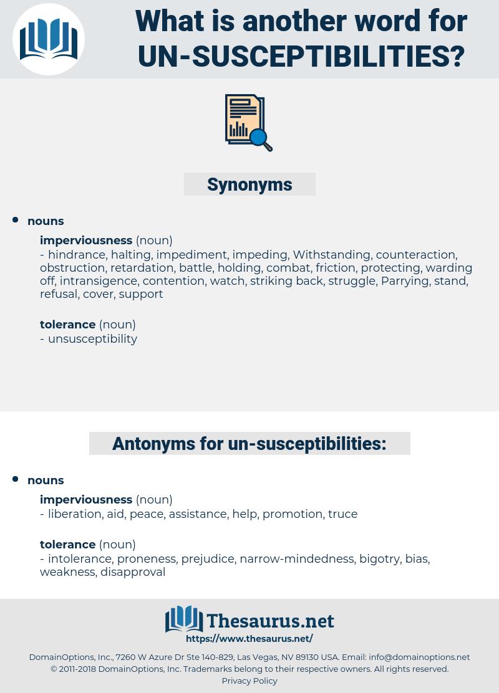 un-susceptibilities, synonym un-susceptibilities, another word for un-susceptibilities, words like un-susceptibilities, thesaurus un-susceptibilities