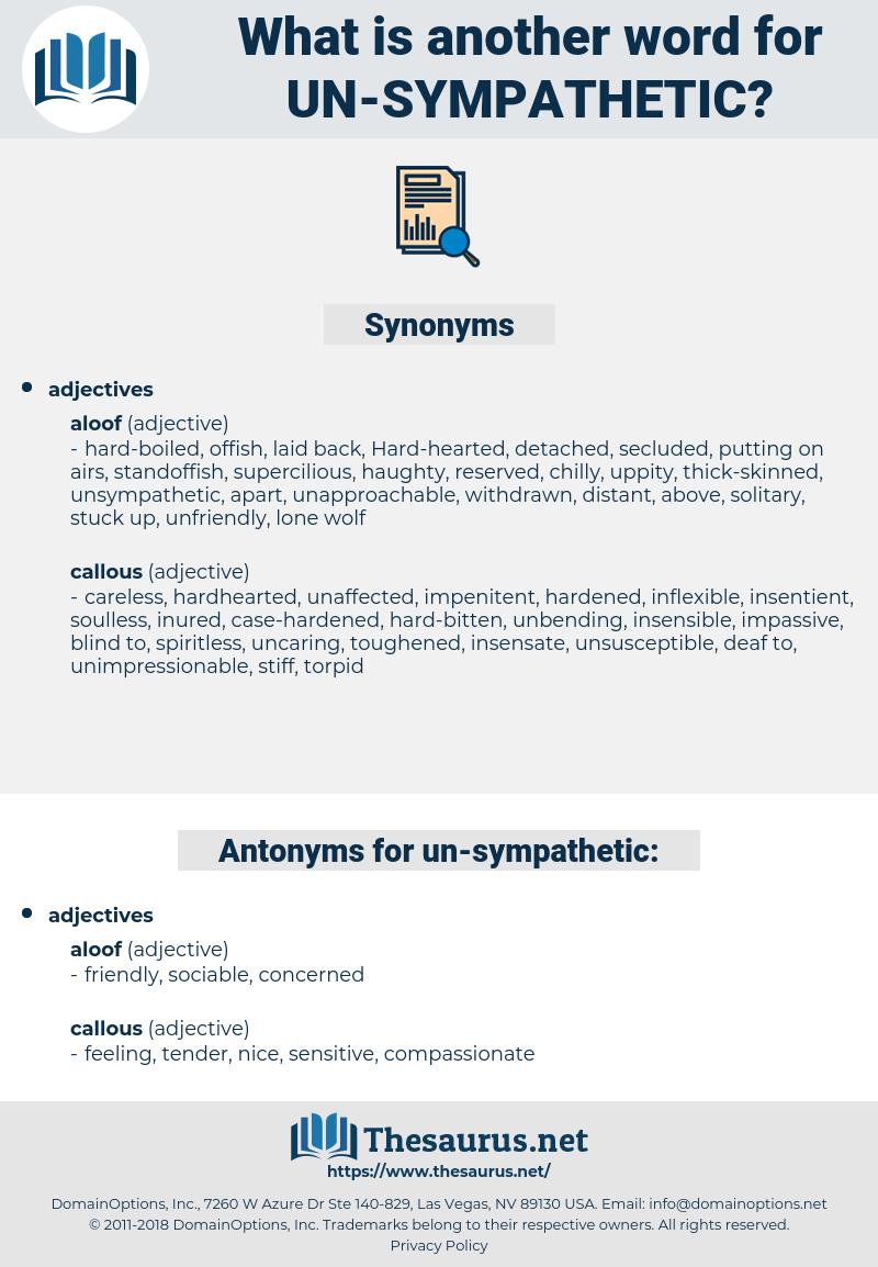un sympathetic, synonym un sympathetic, another word for un sympathetic, words like un sympathetic, thesaurus un sympathetic