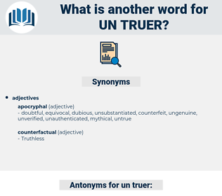 un-truer, synonym un-truer, another word for un-truer, words like un-truer, thesaurus un-truer