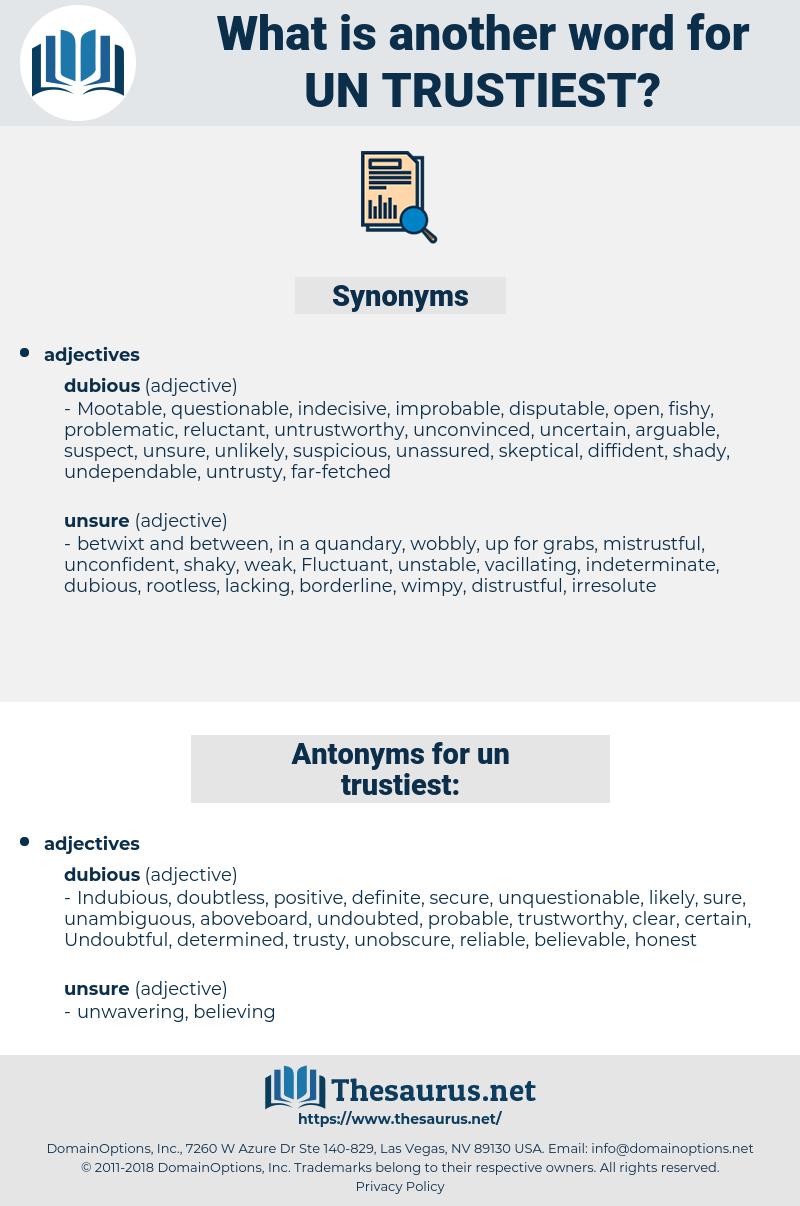 un-trustiest, synonym un-trustiest, another word for un-trustiest, words like un-trustiest, thesaurus un-trustiest