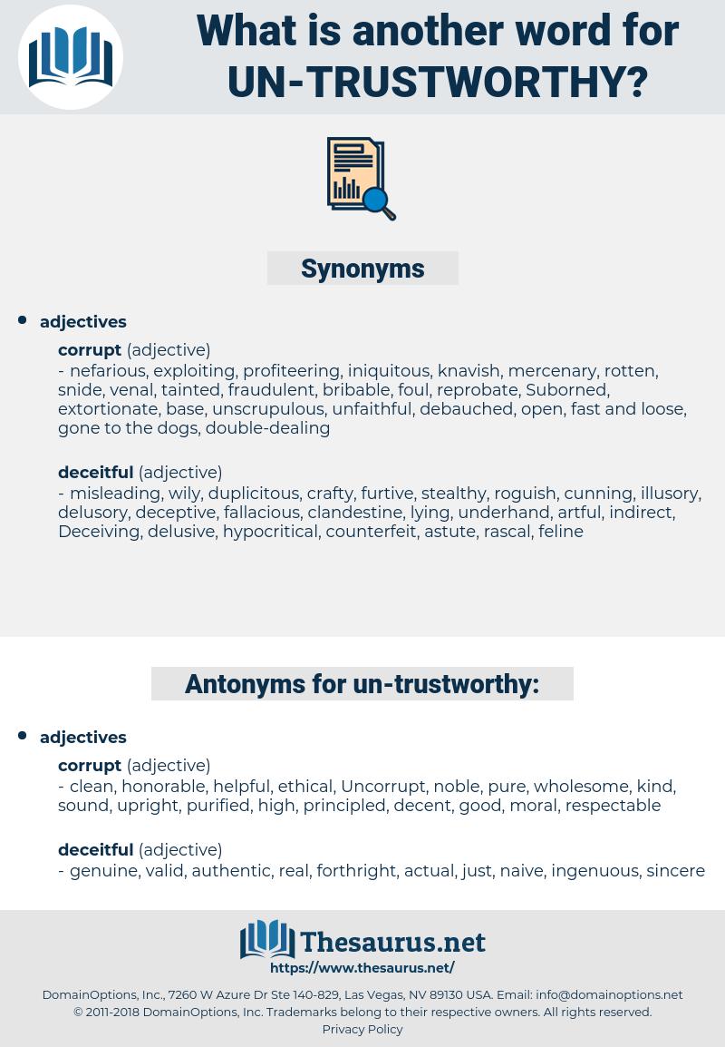 un trustworthy, synonym un trustworthy, another word for un trustworthy, words like un trustworthy, thesaurus un trustworthy