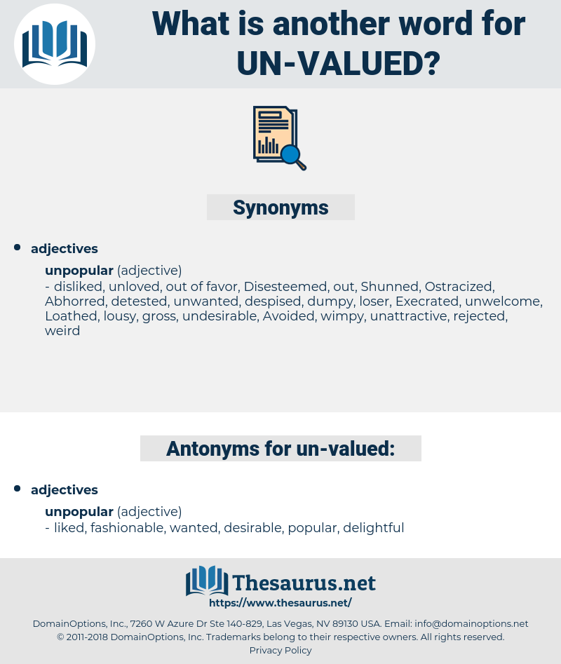 un-valued, synonym un-valued, another word for un-valued, words like un-valued, thesaurus un-valued