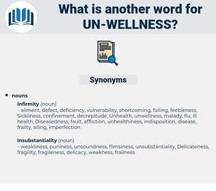 un-wellness, synonym un-wellness, another word for un-wellness, words like un-wellness, thesaurus un-wellness