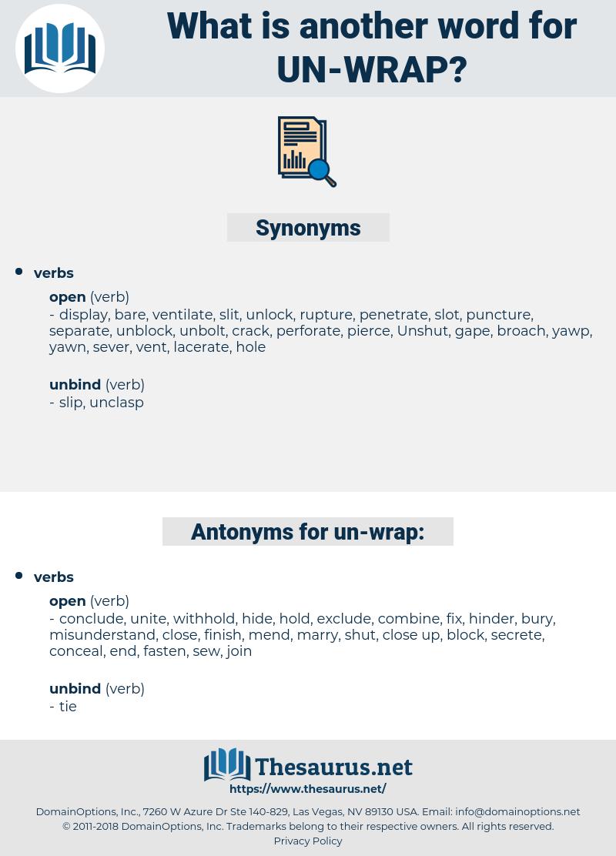 un wrap, synonym un wrap, another word for un wrap, words like un wrap, thesaurus un wrap