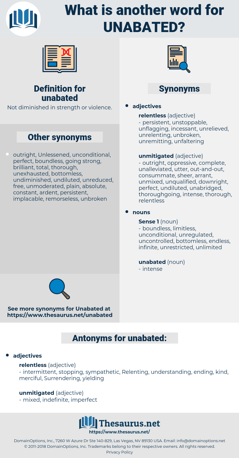 unabated, synonym unabated, another word for unabated, words like unabated, thesaurus unabated