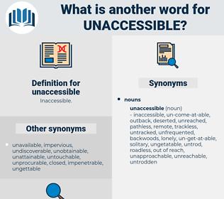 unaccessible, synonym unaccessible, another word for unaccessible, words like unaccessible, thesaurus unaccessible