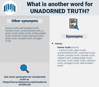 unadorned truth, synonym unadorned truth, another word for unadorned truth, words like unadorned truth, thesaurus unadorned truth