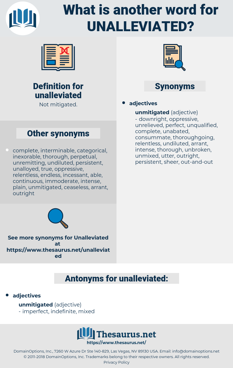 unalleviated, synonym unalleviated, another word for unalleviated, words like unalleviated, thesaurus unalleviated