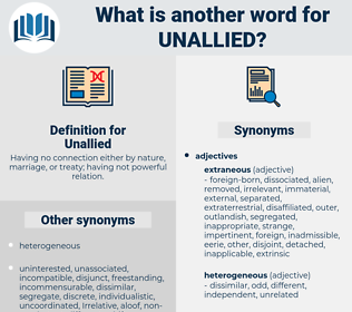 Unallied, synonym Unallied, another word for Unallied, words like Unallied, thesaurus Unallied