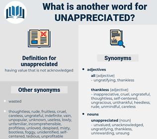 unappreciated, synonym unappreciated, another word for unappreciated, words like unappreciated, thesaurus unappreciated