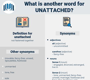 unattached, synonym unattached, another word for unattached, words like unattached, thesaurus unattached