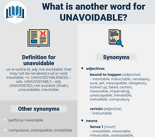 unavoidable, synonym unavoidable, another word for unavoidable, words like unavoidable, thesaurus unavoidable