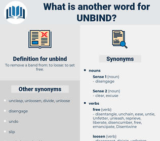 unbind, synonym unbind, another word for unbind, words like unbind, thesaurus unbind