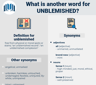 unblemished, synonym unblemished, another word for unblemished, words like unblemished, thesaurus unblemished