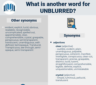 unblurred, synonym unblurred, another word for unblurred, words like unblurred, thesaurus unblurred