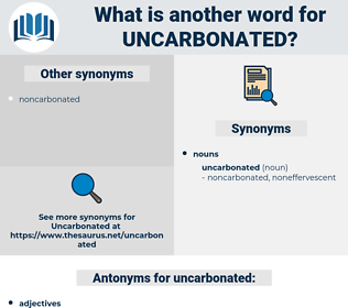 uncarbonated, synonym uncarbonated, another word for uncarbonated, words like uncarbonated, thesaurus uncarbonated