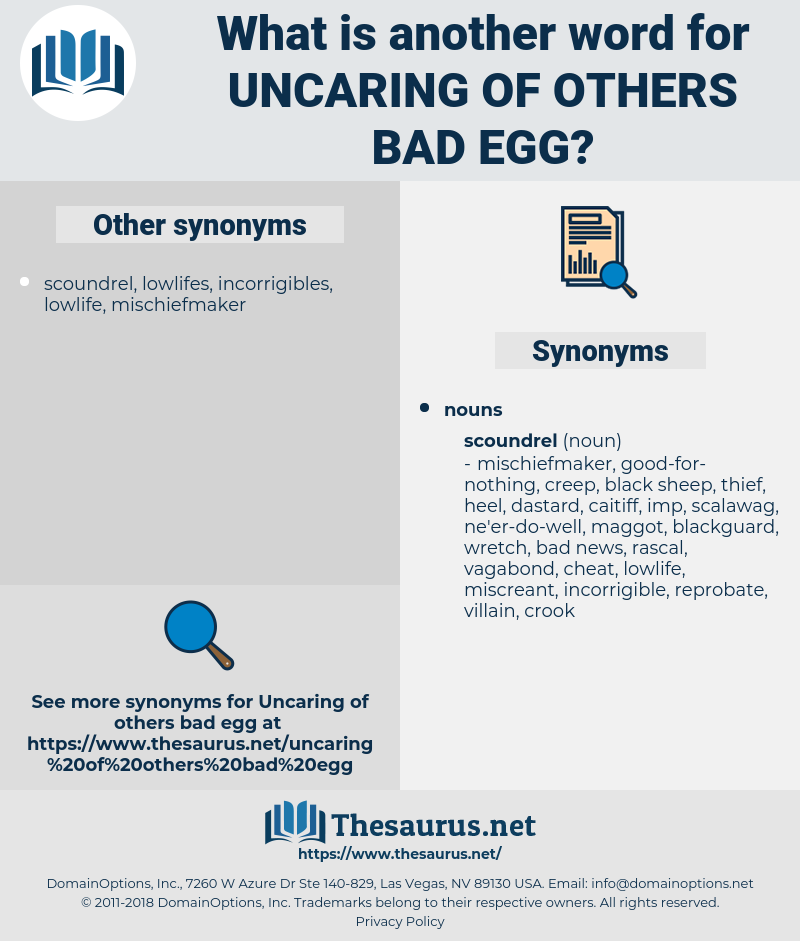 uncaring of others bad egg, synonym uncaring of others bad egg, another word for uncaring of others bad egg, words like uncaring of others bad egg, thesaurus uncaring of others bad egg