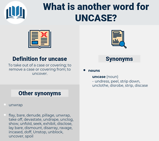 uncase, synonym uncase, another word for uncase, words like uncase, thesaurus uncase
