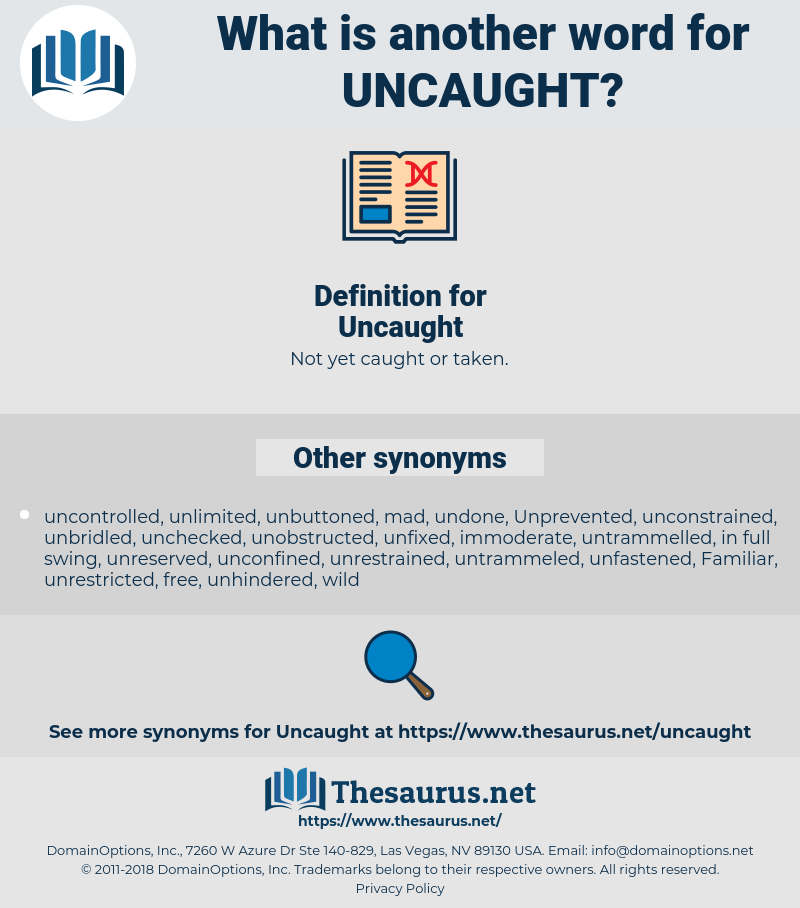 Uncaught, synonym Uncaught, another word for Uncaught, words like Uncaught, thesaurus Uncaught
