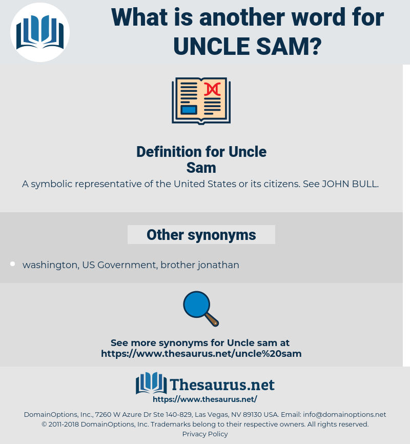 Uncle Sam, synonym Uncle Sam, another word for Uncle Sam, words like Uncle Sam, thesaurus Uncle Sam