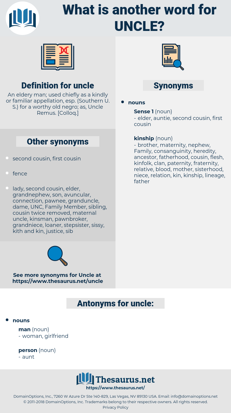 uncle, synonym uncle, another word for uncle, words like uncle, thesaurus uncle