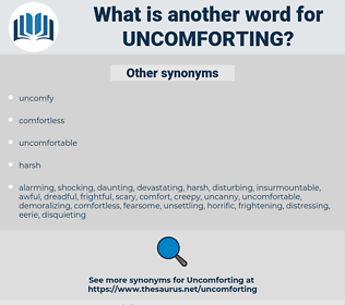 uncomforting, synonym uncomforting, another word for uncomforting, words like uncomforting, thesaurus uncomforting