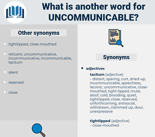 uncommunicable, synonym uncommunicable, another word for uncommunicable, words like uncommunicable, thesaurus uncommunicable