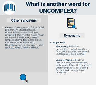 uncomplex, synonym uncomplex, another word for uncomplex, words like uncomplex, thesaurus uncomplex