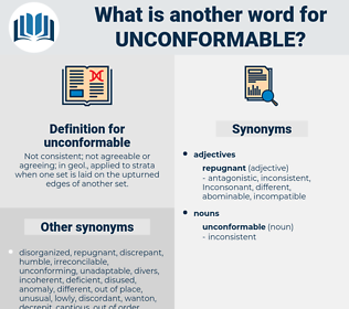unconformable, synonym unconformable, another word for unconformable, words like unconformable, thesaurus unconformable