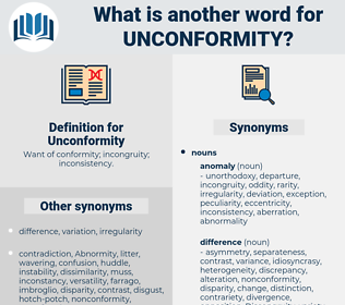 Unconformity, synonym Unconformity, another word for Unconformity, words like Unconformity, thesaurus Unconformity