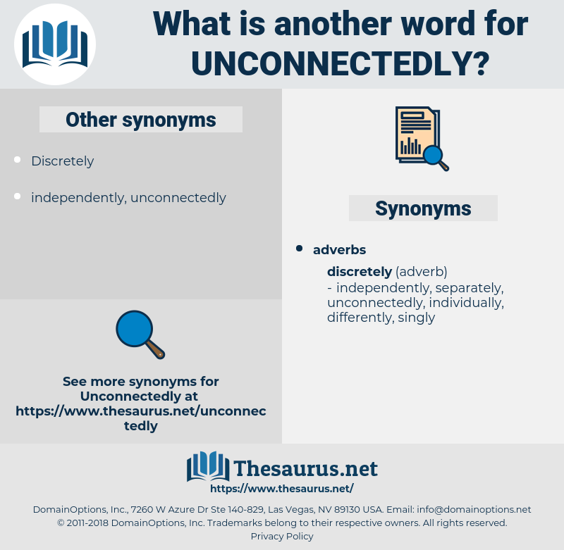 unconnectedly, synonym unconnectedly, another word for unconnectedly, words like unconnectedly, thesaurus unconnectedly