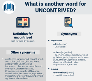 uncontrived, synonym uncontrived, another word for uncontrived, words like uncontrived, thesaurus uncontrived