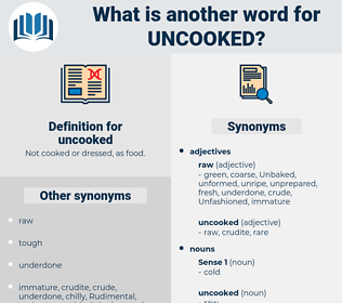 uncooked, synonym uncooked, another word for uncooked, words like uncooked, thesaurus uncooked