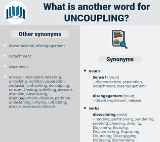 uncoupling, synonym uncoupling, another word for uncoupling, words like uncoupling, thesaurus uncoupling
