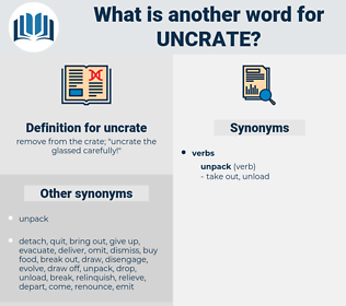 uncrate, synonym uncrate, another word for uncrate, words like uncrate, thesaurus uncrate