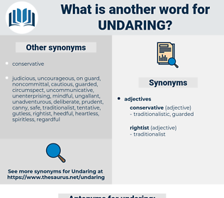 undaring, synonym undaring, another word for undaring, words like undaring, thesaurus undaring