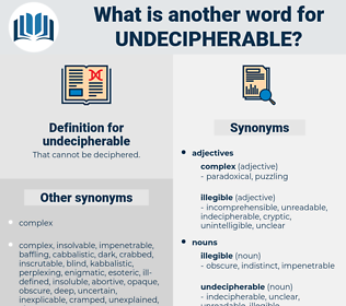 undecipherable, synonym undecipherable, another word for undecipherable, words like undecipherable, thesaurus undecipherable