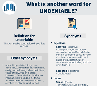 undeniable, synonym undeniable, another word for undeniable, words like undeniable, thesaurus undeniable