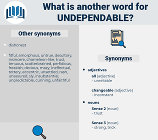 undependable, synonym undependable, another word for undependable, words like undependable, thesaurus undependable