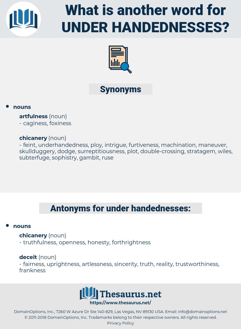 under handednesses, synonym under handednesses, another word for under handednesses, words like under handednesses, thesaurus under handednesses