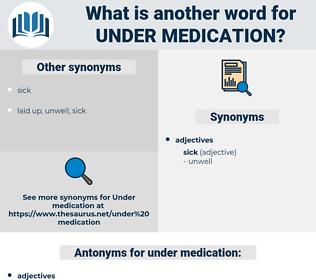 under medication, synonym under medication, another word for under medication, words like under medication, thesaurus under medication