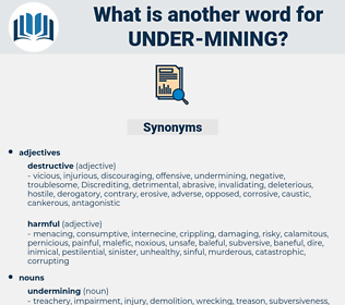under mining, synonym under mining, another word for under mining, words like under mining, thesaurus under mining